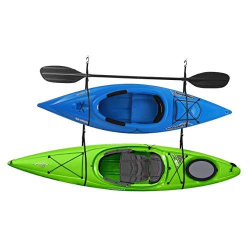 BEW Double Kayak Storage Strap Garage Canoe Hoists 100 lb Capacity - RK44 by BEW
