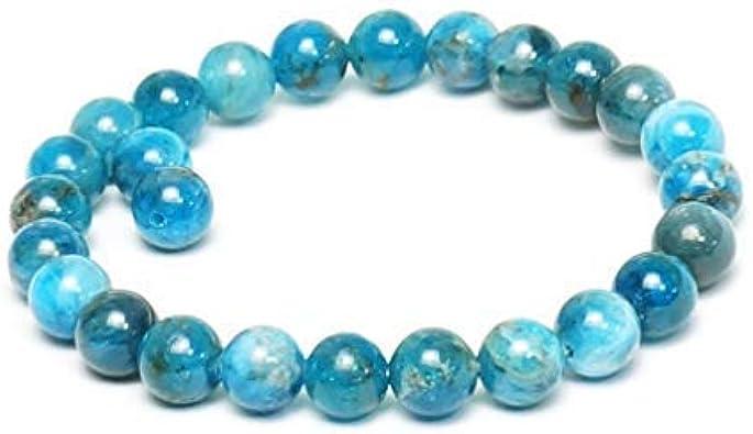 TENGXINGKEJI - Pulsera de piedra natural de amatista azul para mujer, 8 mm