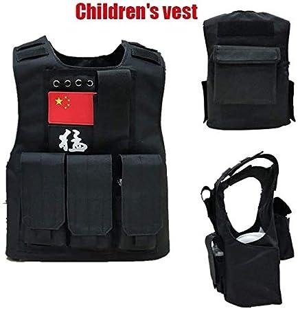 Syxfckc Militar Airsoft táctico de Combate Chaleco Chaleco SWAT Army Rangers Hijos Equipos de Adultos de Caza Chaleco CS al Aire Libre Ropa de Entrenamiento niño Seguridad hreh