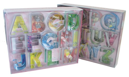 amazoncom r m alphabet 26 piece cookie cutter set letter cookie cutters kitchen dining