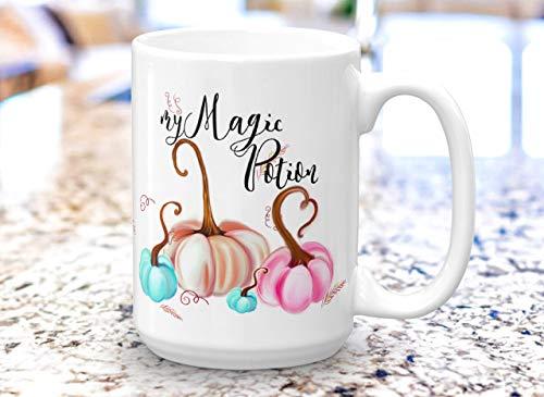 Cute Magic Potion Christmas Mug Set - Morning Pumpkin Fall Mug - Pumpkin Spice Halloween Fall Unique Gift COFFEE MUG - 11 & 15 OZ (Magic Pocus Hocus Set)