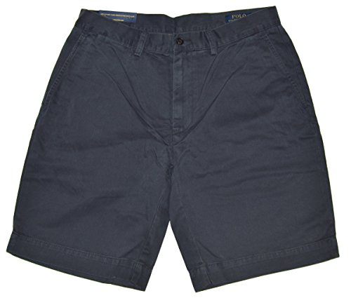 Polo Ralph Lauren Mens Chino Flat Front Shorts (Navy, 33)