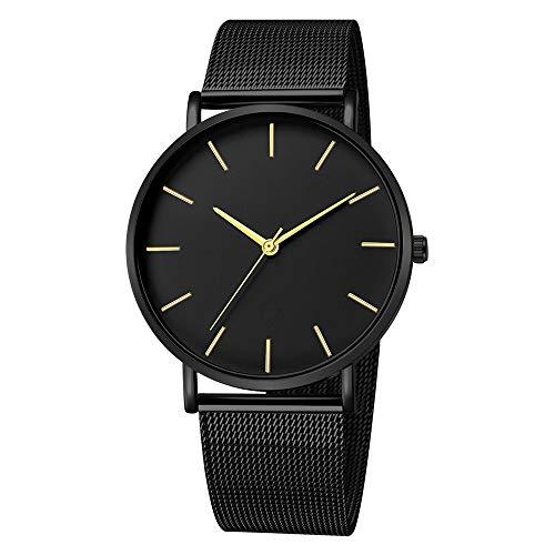 Men Quartz Wrist Watch, Mitiy Waterproof Stainless Steel Analog Watch with Mesh Band (Uk Armani)