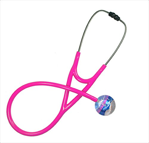 Ultrascope Adult Stethoscope with Hot Pink Tubing, Beach Scene