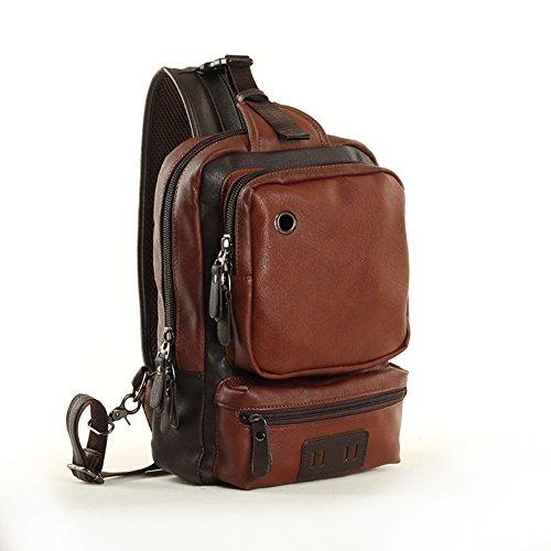 Versión coreana del actual paquete masculino/Pecho de Sport Pack/bolso de bandolera/bolso de hombro inclinado /Mochila simple/Al aire libre viajes bolso bandolera-B B
