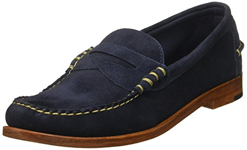 - Allen Edmonds Men's Sea Island Penny Loafer, Navy Suede, 13 D US
