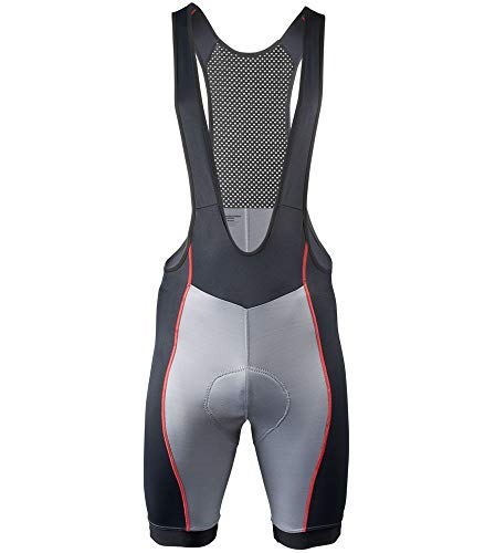Aero Tech Designs Elite Endurance Bib Shorts - Made in the USA (XX-Large, Gray)