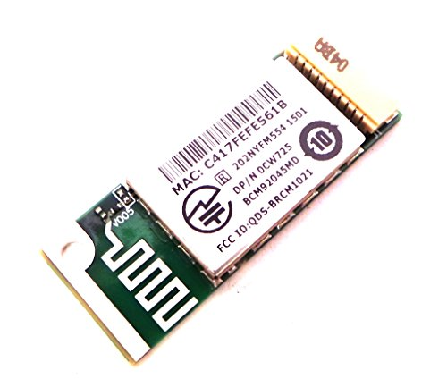 Genuine Dell Wireless Bluetooth Module Board for Latitude: D400, D410, D420, D430, D505, D510, D520, D530, D531, D610, D620, D630/D630c, D631, D800, D810, D820, D830, X1, X300; Inspiron: 300M, 510M, 630M, 640M/E1405, 1410, 1420, 1520, 1521, 1525, 1720, 1721, 6000, 6400/E1505, 8500, 8600, 9100, 9200, 9300, 9400/E1705; Precision: M20, M60, M70, M90, M4300; XPS: M140, M1330, M170, M1210, M1710, M1730, M2010 and Vostro:1310, 1400/1420, 1500, 1700, 500 Compatible Dell Part Numbers: CW725, 0CW725, RJ421, BCM92045MD