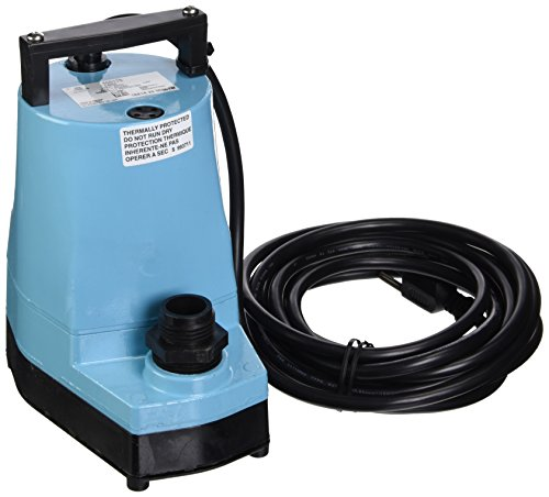 5 Gpm Submersible - Little Giant 505176 5-MSP 1/6 Horsepower 115V Water Wizard 5 Series Submersible Utility Pump