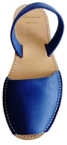 Sandalen verschiedene Nobuck 4 Avarcas Ferse Clogs 8 Farben Azul Keil cm mit menorcan MENORQUINAS Sandalen zEaWAnq6q