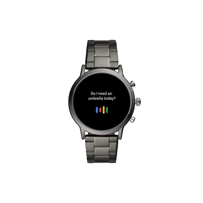 41HtKOXoEtL Los smartwatches que funcionan con la tecnología WearOS by Google funcionan con teléfonos iPhoneⓇ¹ y Android Funciona varios días con una única carga en modo de batería ampliada. Seguimiento de actividad y frecuencia cardíaca, GPS incorporado para seguimiento de distancias, diseño apto para nadar