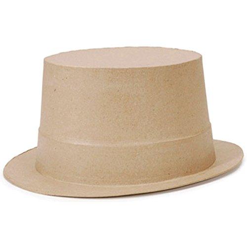 Darice Paper Mache Top Hat - 9 x 11 inches -