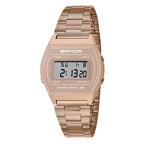 Relojes Hombre Relojes de Pulsera Digital Militar Deportivo Impermeable LED Reloj de Acero Inoxidable Digital Día