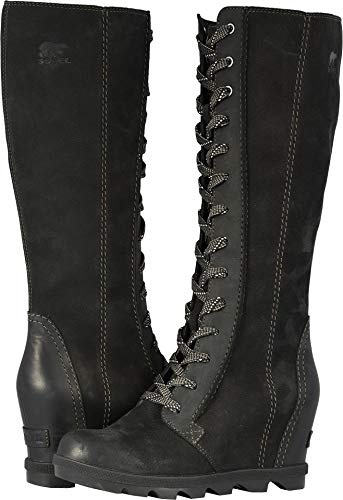 of Full Wedge Joan Nubuck II Tall Combo Boots Leather Arctic Black Women's SOREL Grain EIgw7nqWzx