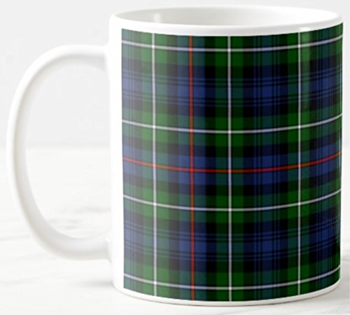 Scottish Clan MacKenzie Tartan on 11 Oz. Ceramic Coffee Mug