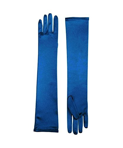 Forum Novelties Formal Opera Evening Satin Long Costume Gloves, Blue, Standard]()