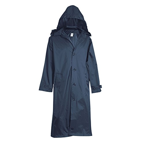 Fit Rite Men's 100% Nylon Long Raincoat - Zip in Hood - With Travel Pouch (XXL, Navy) (Long Raincoats For Men With Hood compare prices)