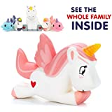 Unicorn Squishy -Pink Heart Edition, Our Jumbo slow rising unicorn squishies are the most cute and soft way to relieve stress! This family set of office stress relief toys will calm you with cuteness!