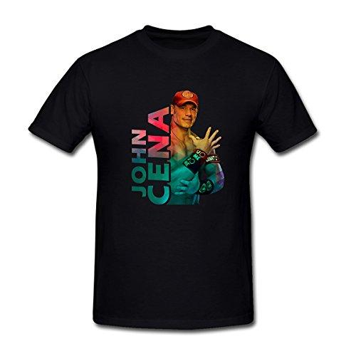 Drong Men's Classic Action WWE John Cena T-Shirt S