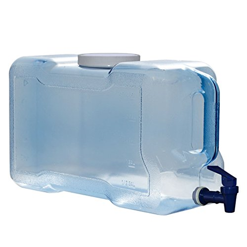 For Your Water 3 Gallon 11.36 Liter Long Refrigerator Bottle Drinking Water Dispenser w/ Faucet BPA Free & FDA Approved - Made in the USA - Blue - 100mm Screw Cap 15.625' x 6.5' x 9'