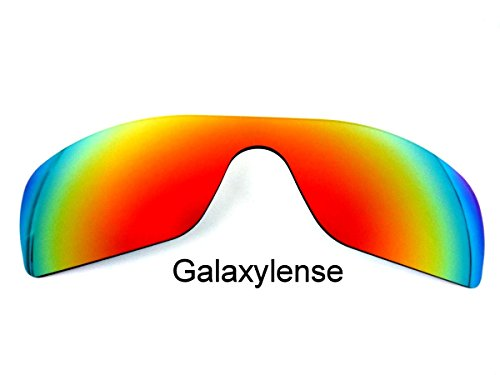Galaxy Replacement Lenses for Oakley Batwolf Fire Red Color - Polorized Lenses