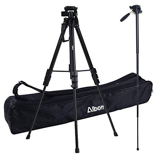 Albott 70 Inch Professional SLR Camera Aluminum Travel Portable Tripod Monopod with Carry Bag