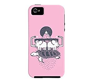 The Flat Earth iPhone 5/5s Cotton candy Tough Phone Case - Design By Humans