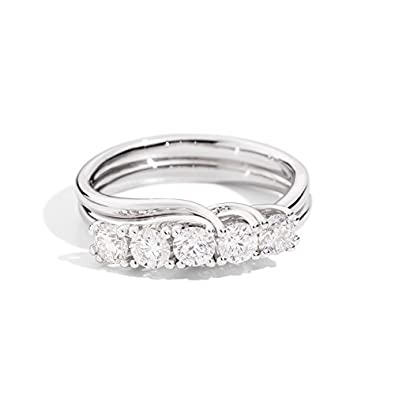 bague or 5 diamants