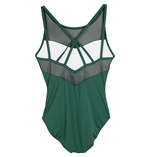 MSMAX Classic Green Women Camisole Leotard Ballet Dance Size M