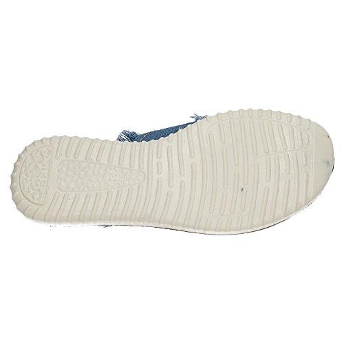 ZAPATOP W5838 Sandalia de Dedo Mujer Sandalias Azul