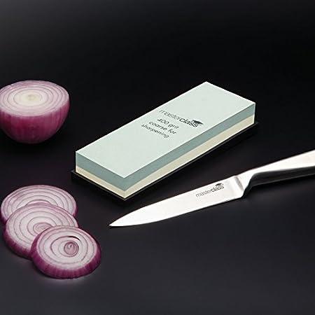 masterclass Kitchen Craft KCMCWHET - Piedra afiladora de Doble Cara, 18 cm