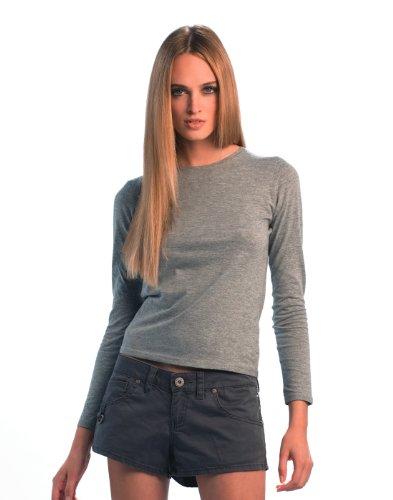 B & C Collection Women-Only Langarmshirt Tief Rot M