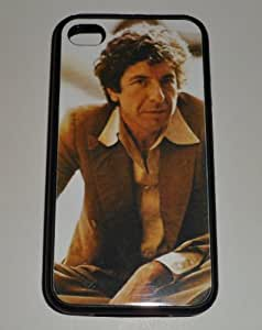 iphone covers LEONARD COHEN 70s Shot Iphone 6 4.7 BLACK RUBBER PROTECTIVE CASE
