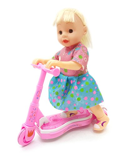 Doll Scooter Interactive Battery Operated Toy for Girl Ou...