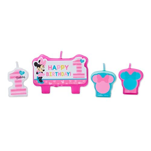 Top American Greetings Minnie Mouse 1st Birthday Candles (4 Count) hot sale