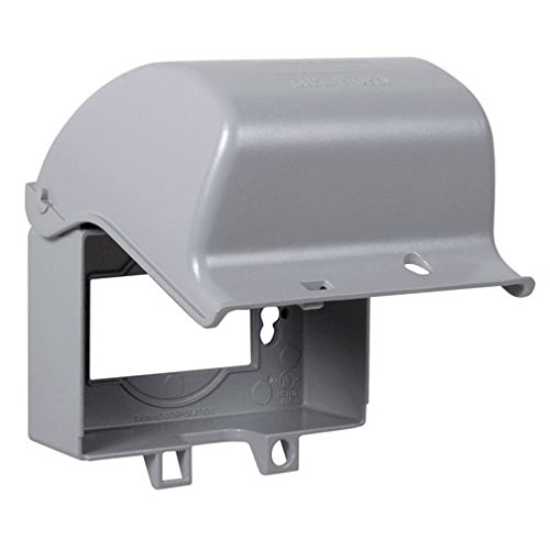 TayMac MX3300 One Gang Horizontal In Use Metal Weatherproof Receptacle Cover ()