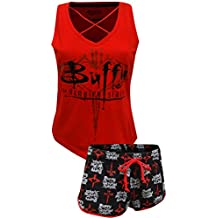 Briefly Stated womens standard Buffy the Vampire Slayer 2-piece Pajama Set