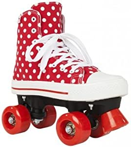 Rookie Canvas High Quad Skates Polka Dots 6uk