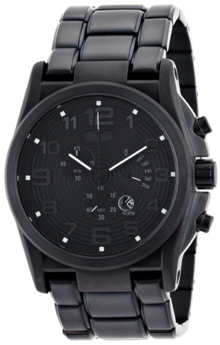 Vestal Men's DEV006 De Novo Matte Black Chronograph Watch