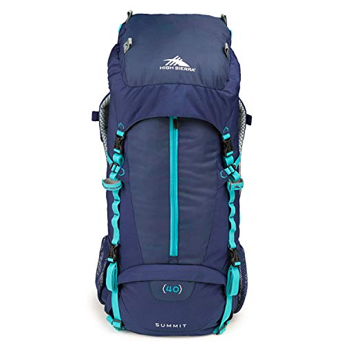 High Sierra Classic 2 Series Summit 45 Internal Frame Pack, True Navy/True Navy/Tropic Teal