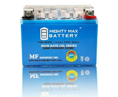 Mighty Max Battery YTX4L-BS Gel Battery ATV Quad Dirt/Pit Bike 50/70/110/125 CC Brand (50 Cc Pit Bikes)