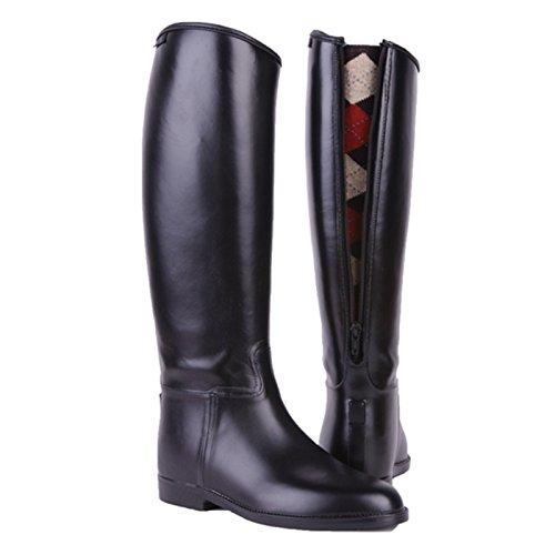 HKM–Botas de equitación para largo y amplio con cremallera negro