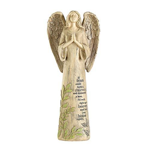 (Topadorn Garden Statuary Outdoor Praying Angel Resin Figurines,Collectible Sculptures,14