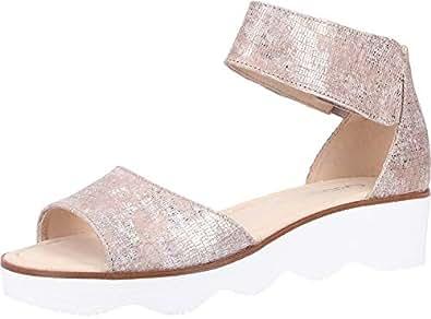 GABOR Shellie Puder Leather Puder Womens Flat Sandals Summer Sandals