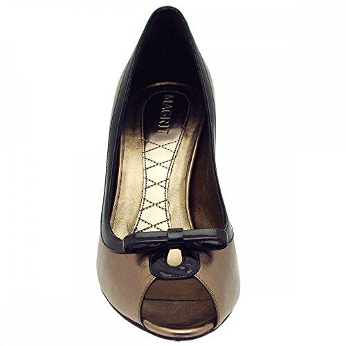 De Pewter Marrón Mujer Vestir Zapatos Magrit Para 5Zw87T5qa