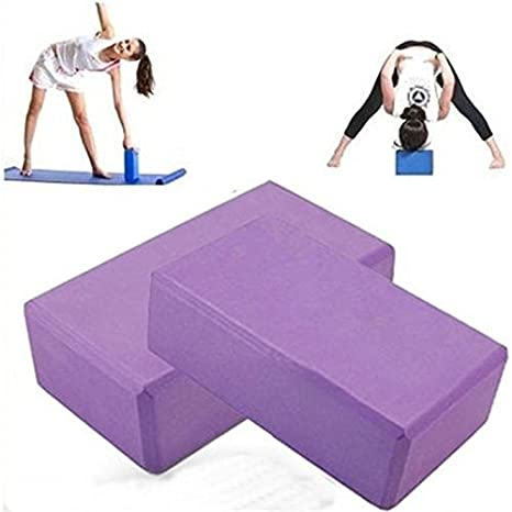 Amazon.com: Purple Yoga Bloque Ladrillo Espuma Casa ...