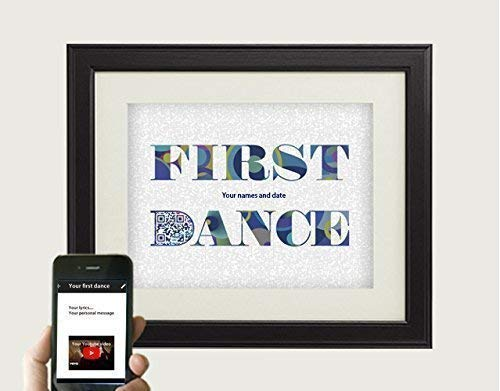 Customized Any Wedding First Dance Song Lyrics Art Personalized First Paper Or 2nd Cotton Anniversary Gifts For Husband Or Wife Qr Code Tech
