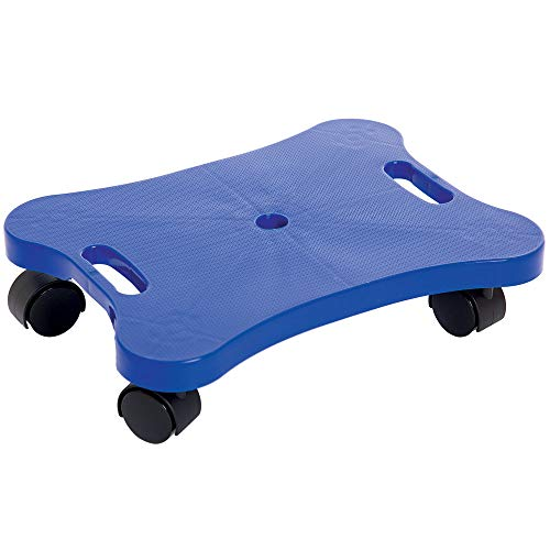 Fun and Function Plastic Scooter Board with Handles - 16 inch - Improves Balance, Posture and Coordination With Exercise for Ages 3+ ()