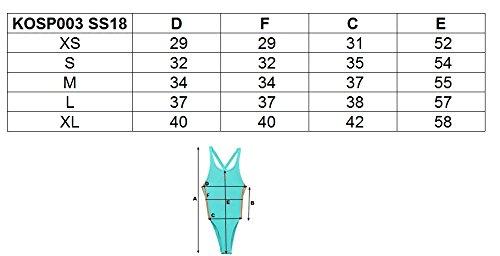 respaldo Xs de Traje Kosp003 de ss18 Xl Negro Azul f o para 1 oscuro 4 mujer ba Sin 3s pieza a pqwPAO