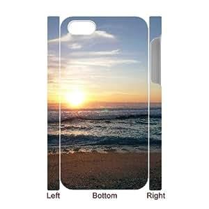 DIY Case for Iphone 4,4S 3D - The sun on the beach ( WKK-R-512842 )